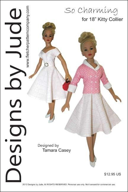 """So Charming Dress Pattern for 18"""" Kitty Collier,Tonner"""