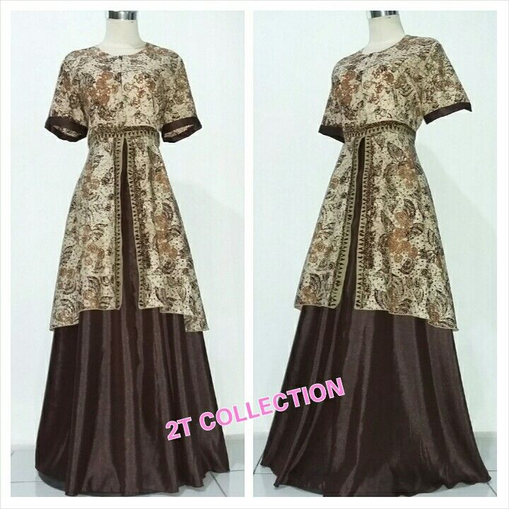 Dress batik aplikasi