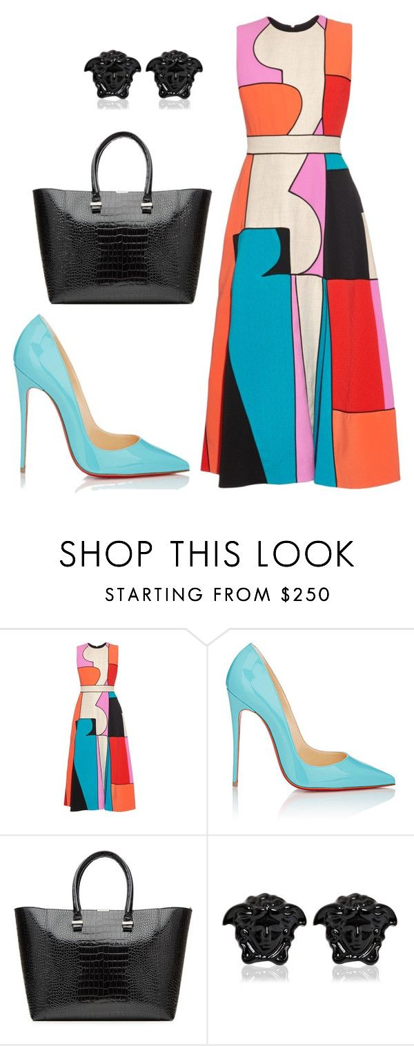 """style theory by Helia"" by heliaamado on Polyvore featuring moda, Roksanda, Christian Louboutin, Victoria Beckham e Versace"