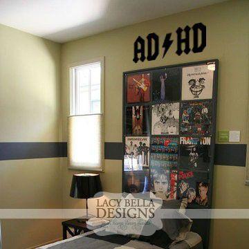 Adhd Vinyl Lettering Ac Dc Boys Decal Bedroom Decor Wall