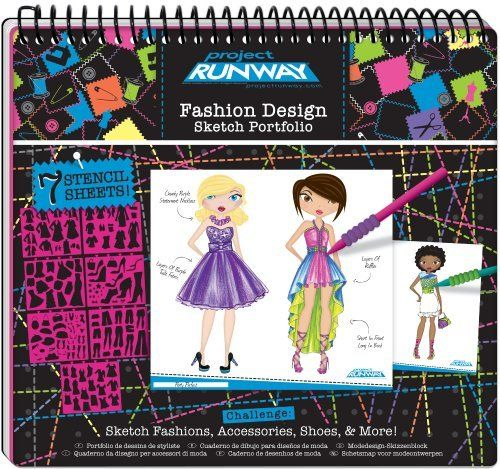 Project Runway Fashion Design Sketch Portfolio Pages