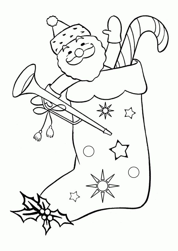 Christmas Stocking Coloring Pages Holiday Coloring Pages