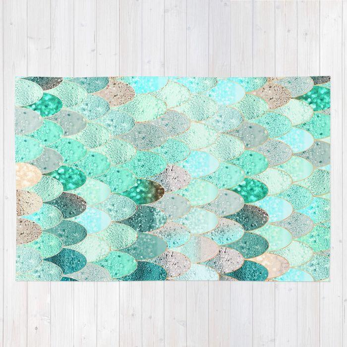 Buy Summer Mermaid Rug By Monikastrigel Worldwide Shipping Available At Society6 Com Just One Of Millions Of Hig Mermaid Nursery Mermaid Room Mermaid Bedroom
