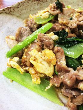 タレが絡む☆豚肉と卵、小松菜の炒めもの by うずらんらん [クックパッド] 簡単おいしいみんなのレシピが252万品