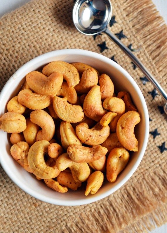 Oven roasted cashew nuts recipe