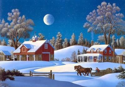 a winter's night sleigh ride