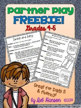 This partner play is intended to be used as a fluency-building activity that 4th-5th grade students can do with a partner.  Partner plays require minimal teacher support, thereby allowing teachers to work with other small groups.  For teachers who implement Daily 5, these plays are perfect for Read to Someone activities.