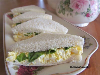 Egg and Watercress Sandwiches - sometimes my grandmother did add eggs (if the hens had been laying) LOL