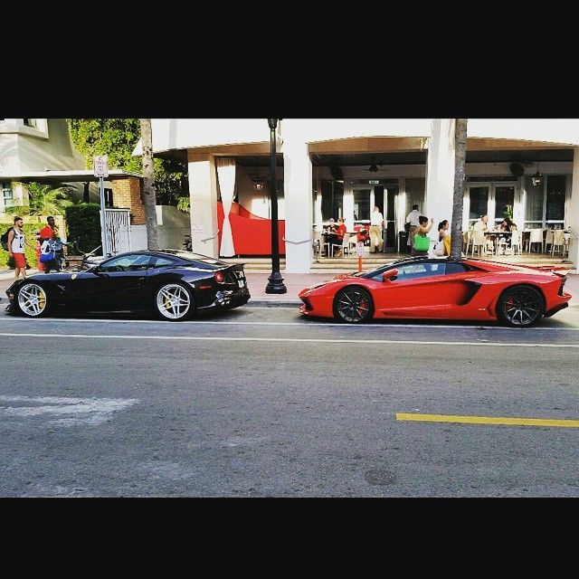 Lamborghini And Ferrari Are Rental Cars In Miami Beach