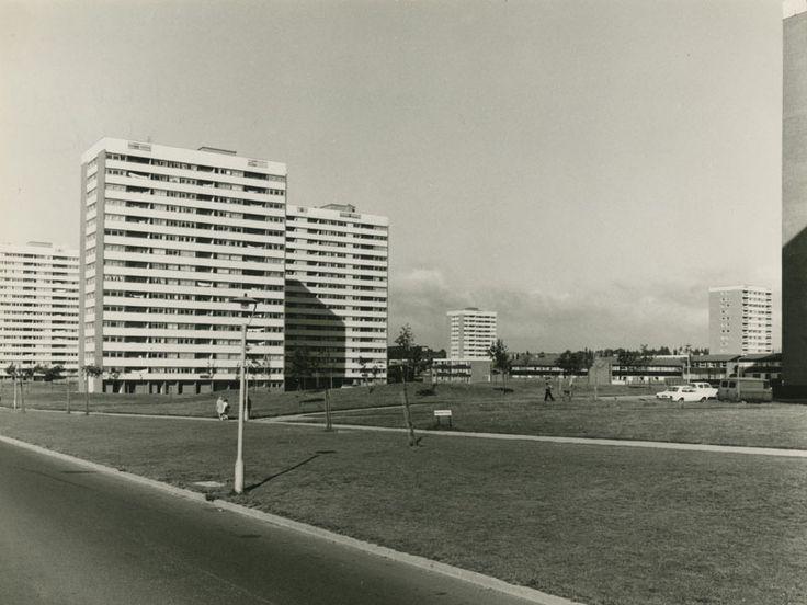 Tower blocks on Castle Vale Estate, 1970 (photograph: Birmingham City Council Public Works Department)
