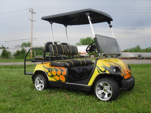 Yellow black picture by onlytransam for Narrow golf cart