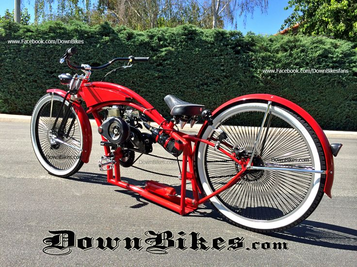 Motorized bicycle custom stretch cruiser with air ride Best frame for motorized bicycle