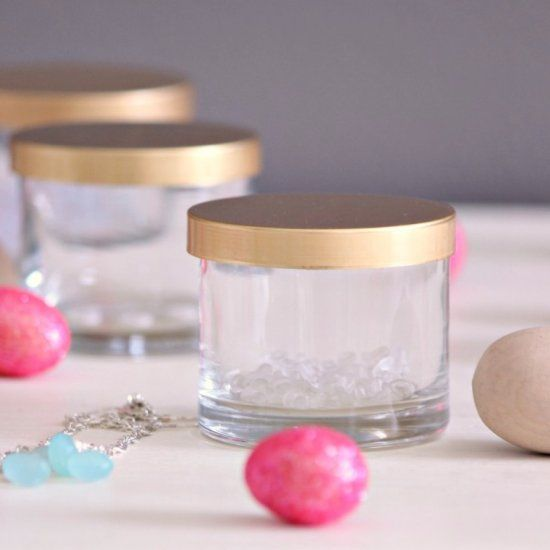 Learn how to easily remove wax from candle jars so you can reuse them for storing bits and bobs!