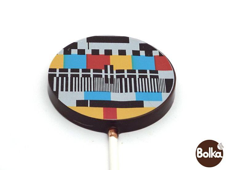 Chocolate lollipop/csokoládé nyalóka (test pattern/monoszkóp)