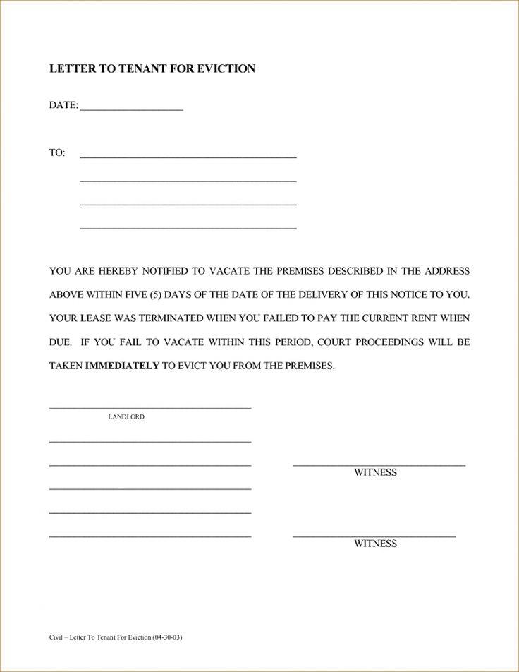 sample eviction letter free download shopgrat basic