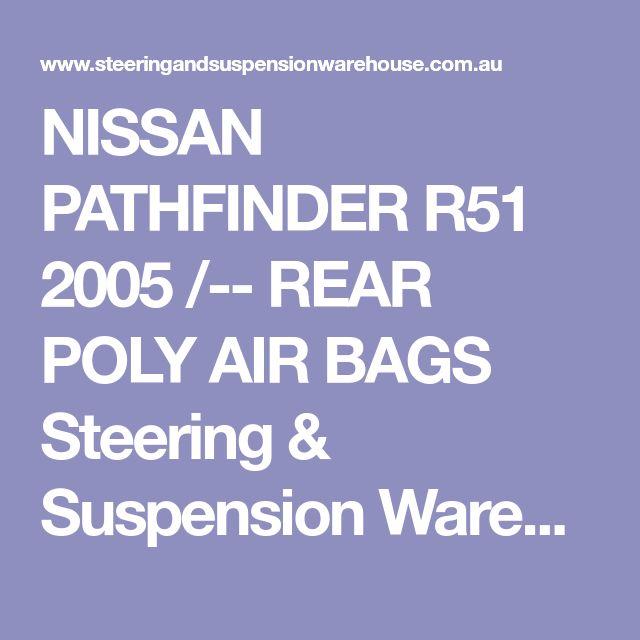 NISSAN PATHFINDER R51 2005 /-- REAR POLY AIR BAGS Steering & Suspension Warehouse