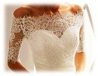 lace and sweetheart neckline. Gorgeous!