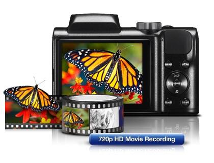 "SAMSUNG WB100 16.1Mp 26x Optik 23,3 mm Ultra Geniş Açı 3.0"" Lcd Dijital Kompakt Siyah :: Al Bak Avm"