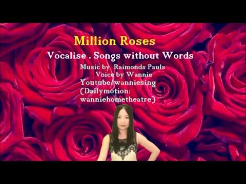 Vocalise : Million Roses Миллион алых роз (My cover - high voice)