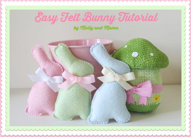 Easy Felt Bunny Tutorial by Molly and Mama