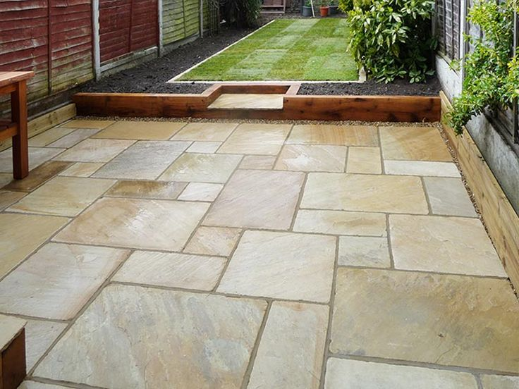 25 best ideas about patio slabs on pinterest paving for Garden decking designs uk