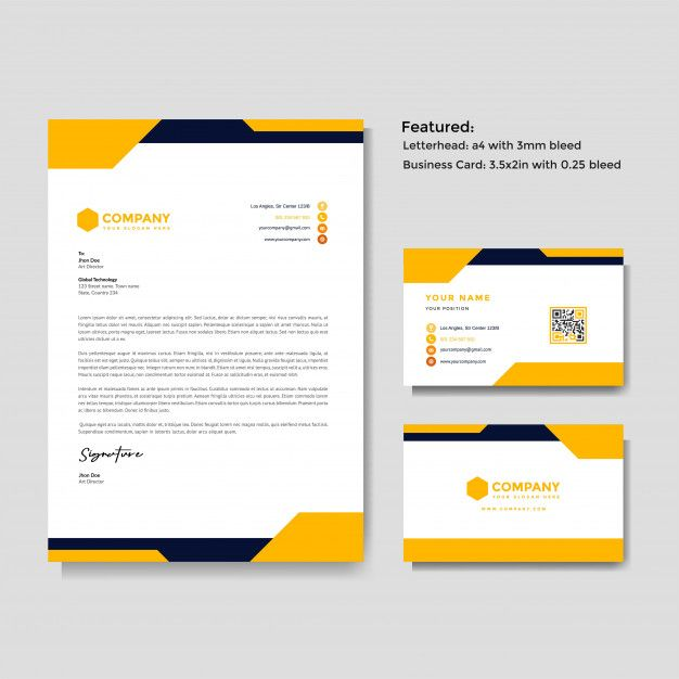 Professional Creative Letterhead And Business Card Template Letterhead Company Letterhead Template Business Cards Vector Templates