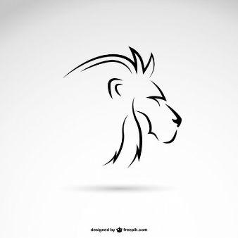 Profil d'art de la ligne de lion                                                                                                                                                                                 Plus