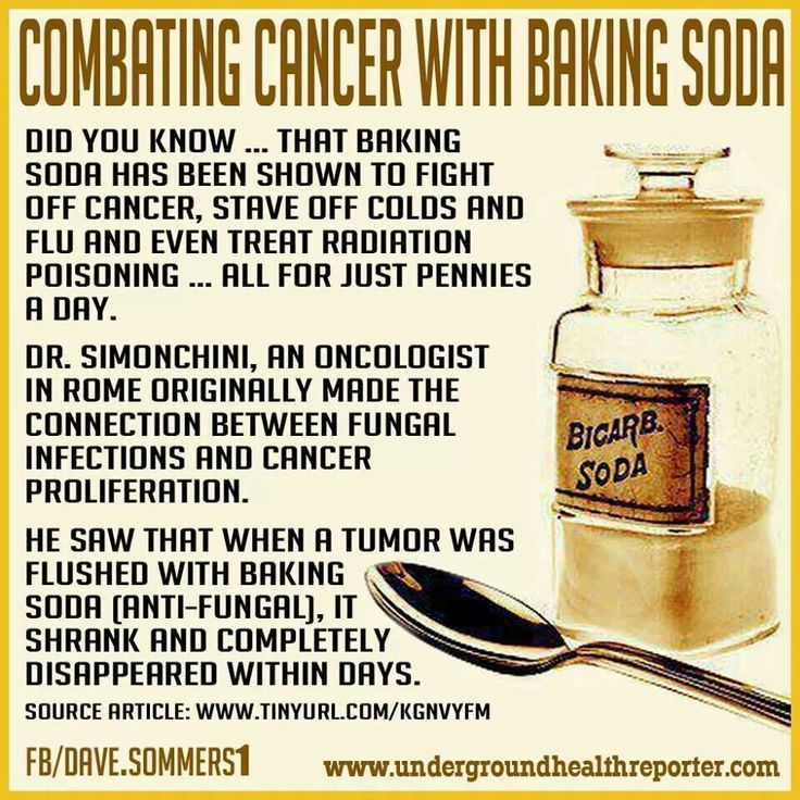 Cancer treatment with baking soda.