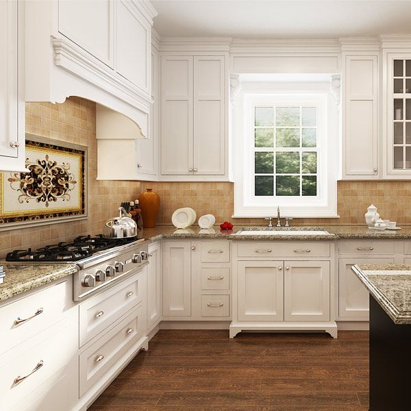 kitchen cabinets, solid wood, white, OP14-S00