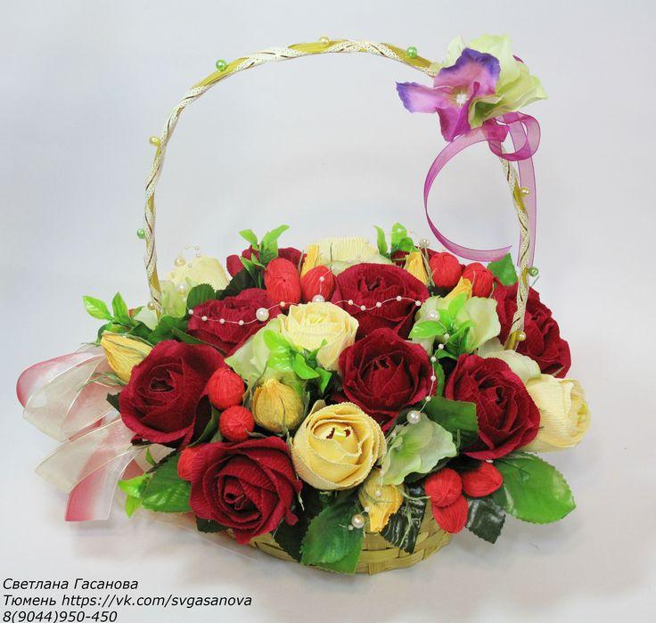 Корзина с розами. Свит-дизайн.