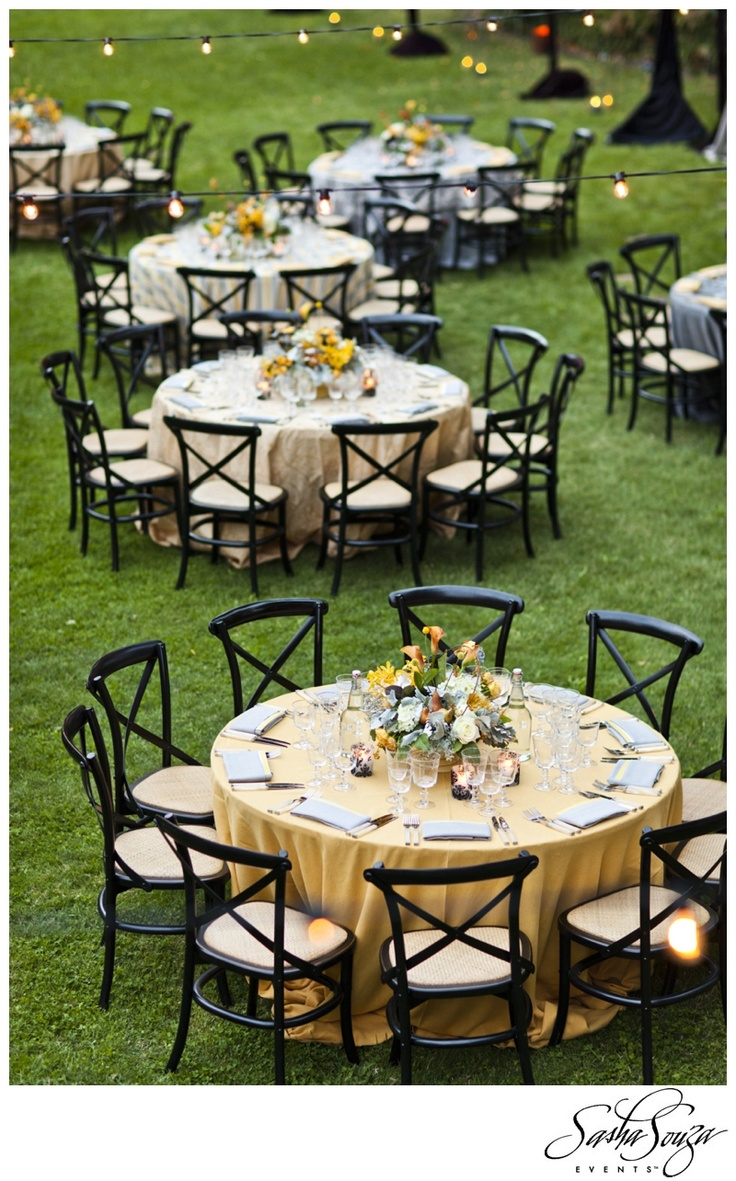 mustard yellow butter gray black wedding seating