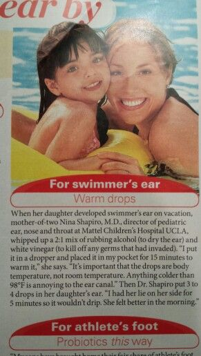 Natural swimmers ear remedy.