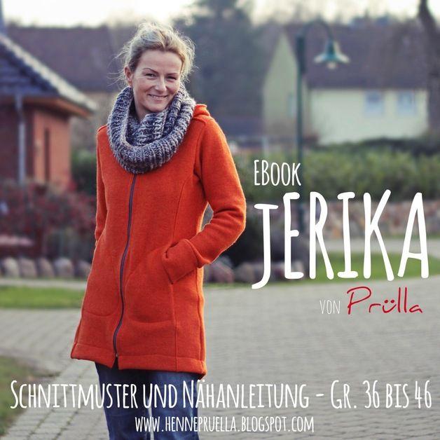 jERIKA Eine Jacke - viele Möglichkeiten. jERIKA bietet eine lange und eine kurze Jackenform, dabei ist sie hinten etwas länger geschnitten; Stehkragen oder Kapuze; aufgesetzte Taschen,...