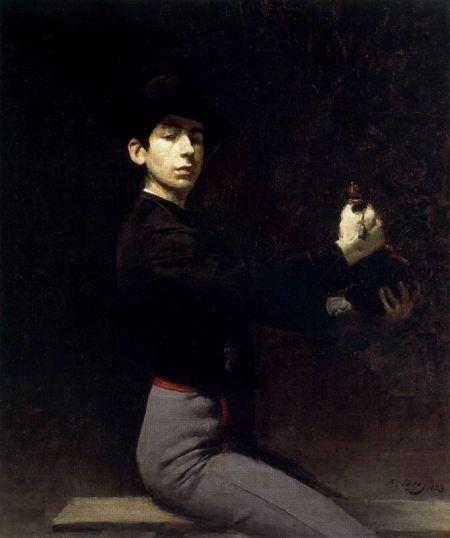 Self-portrait as a flamenco dancer, 1883  by Ramon Casas i Carbó