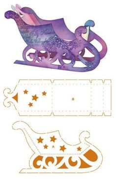 Viva Decor Gift Box Stencil - Sleigh #9