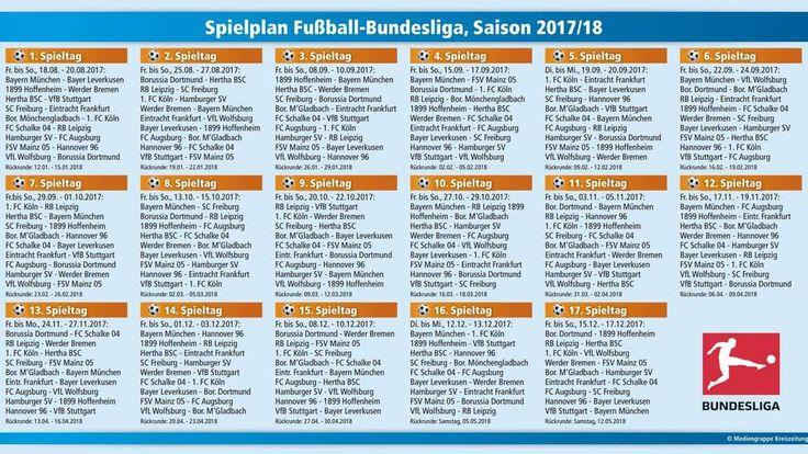 Der Bundesliga-Spielplan 2017/2018