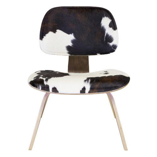 Found It At AllModern   Cow Hide Lounge Chair Design