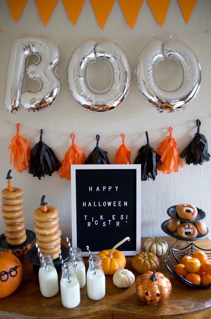 Donut Be Tricked! Halloween Party | Diy halloween ...