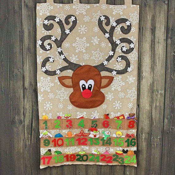 Reno Navidad calendario de Adviento calendario cuenta