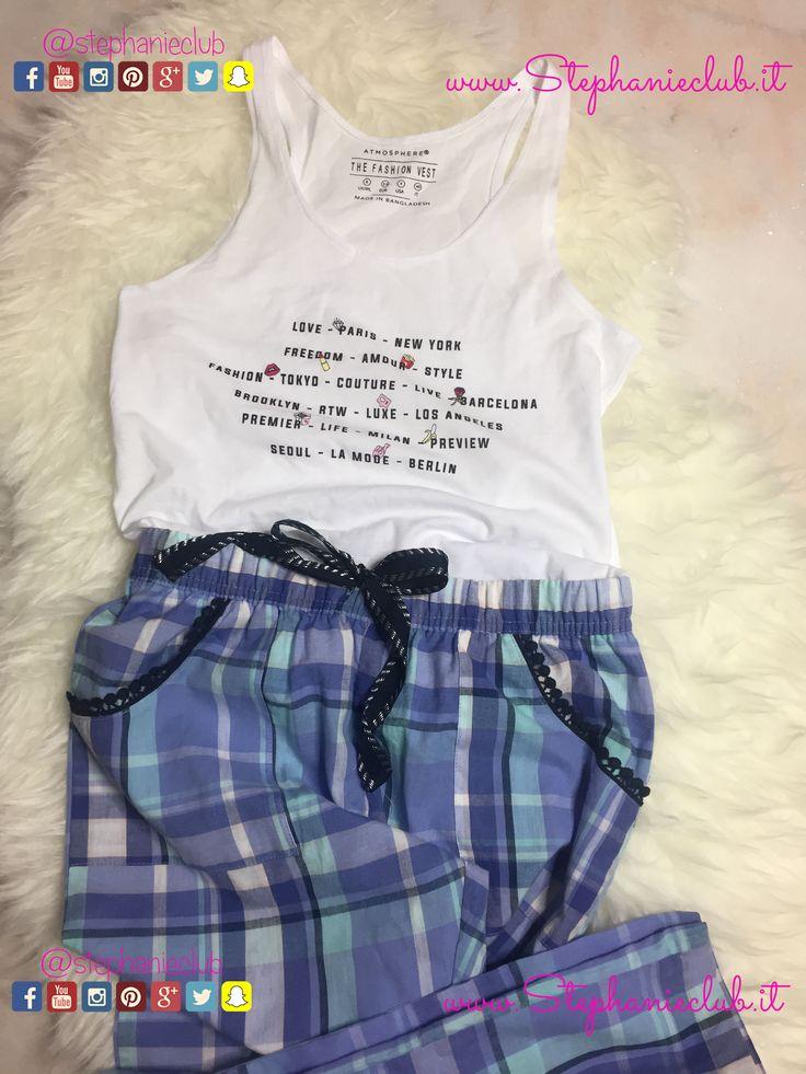 canotta e pantalone da pigiama #Primark
