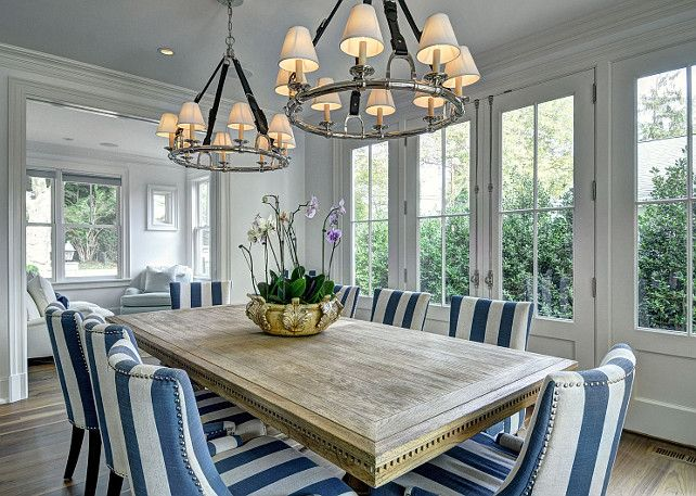 East Hampton Shingle Cottage With Coastal Interiors | Westbury Chandelier  In Polished Nickel By Ralph Lauren