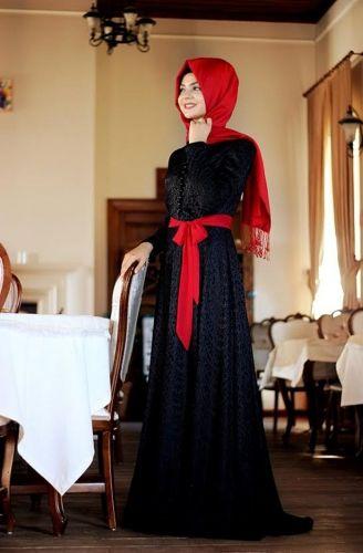 Pınar Şems - Laminasyon Elbise Siyah