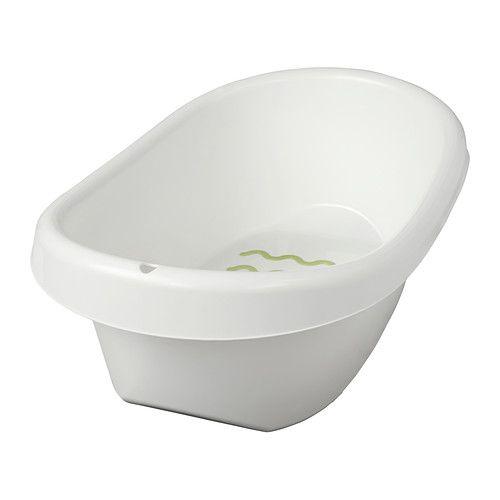 LÄTTSAM Babybadje IKEA Antisliponderkant, zodat het badje stevig blijft staan. Zachte antislipbescherming op de bodem.