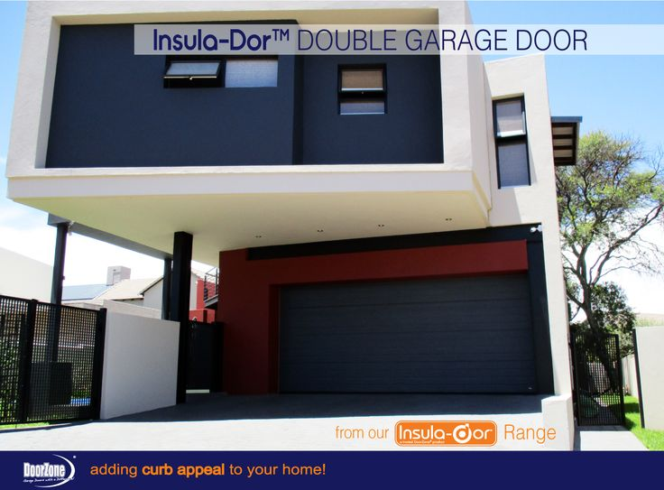 Horizontal Narrow Slat Insula-Dor™ Insulated garage doors will definitely add a modern slick look to your home. With pinch protection panels for your safety. www.doorzonesa.com