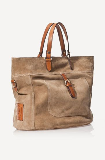 SUEDE AND CALFSKIN HANDBAG