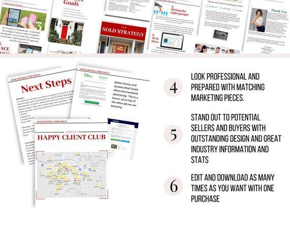 Listing Presentation Packet Keller Williams Kw Real Estate Etsy Listing Presentation Listing Presentation Real Estate Marketing Template