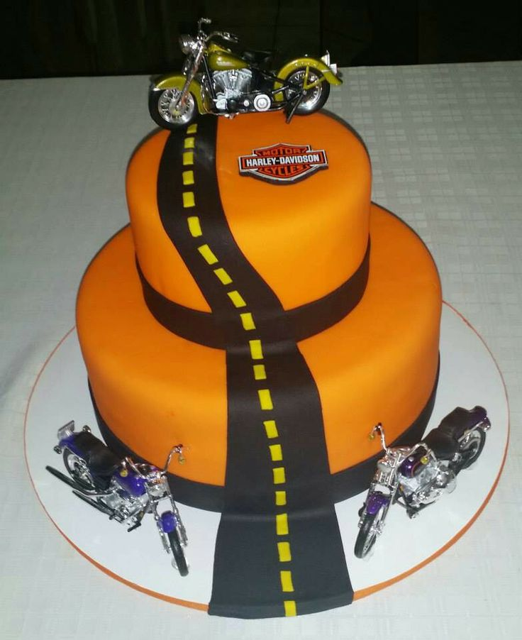 Harley Davidson Easy Motorcycle Cake Ideas 13901 Motorcycl