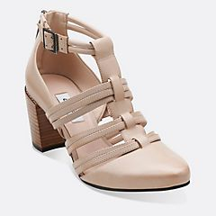 Cleaves Zing in Oyster Leather - Womens Shoes from Clarks