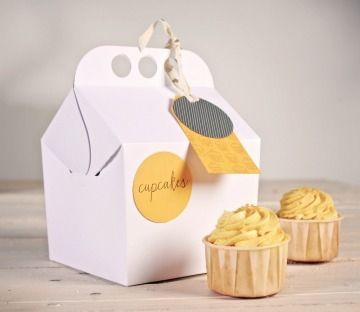 Happy box for cupcakes These are called Gable Boxes  see them at B2Bwraps.com