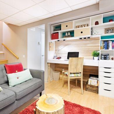 Rangement mur à mur pour le bureau - Bureau - Inspirations - Décoration et rénovation - Pratico Pratiques